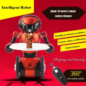 WLTOYS F1 2.4G USB Charging Intelligent Balance RC Robot G-Sensor Remote Control Toy Kids Gift - Red