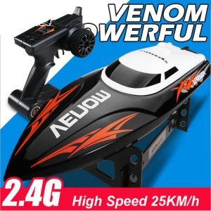 UDIRC UDI001 2.4G Remote Control Self-righting Hull High Speed Venom Power RC Speed Boat - Black