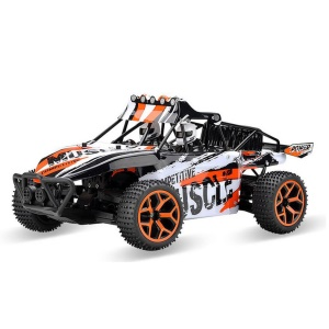 Remote Control Truck 1:18 Scale 4WD Electric High Speed Off-road Truggy Toys - Orange
