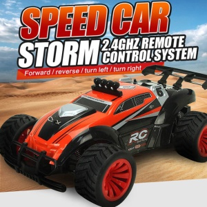 SUBOTECH BG1505 2.4GHz Remote Control 1:16 20KM/H High Speed Drift RC Racing Car - Orange / US Plug