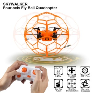 HELIC MAX 1340 2.4GHz 4CH Fly Ball RC Drone Quadcopter 3D Flip Roller - Orange