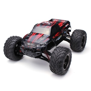 9115 2.4G Electric RC Car 1/12 Scale Rear-Wheel Drive Off-road Monster Truck - Red / UK Plug