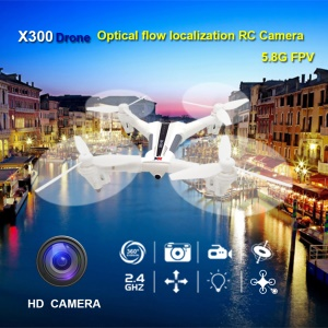 XK X300 FPV WiFi Optical Flow Positioning RC Quadcopter Drone 2.4G 6-Axis Gyro