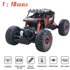 YL-06 2.4G 1:18 Scale Remote Control RC Car Off Road Rock Crawler 4 Wheels - Red