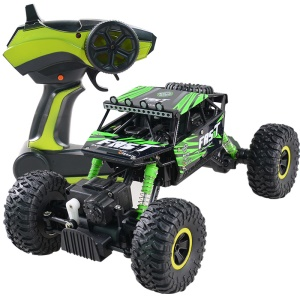 YL-06 2.4G 1:18 Scale 4WD Rock Crawlers Off Road RC Buggy Car with Two Rechargeable Batteries - Green