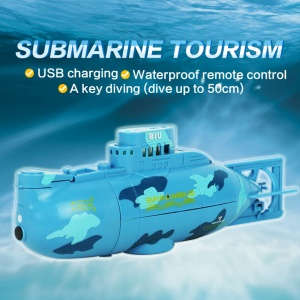 3311 Mini Remote Control Submarine USB Rechargeable - Blue