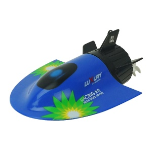 3314 Mini 27MHz / 40MHz 4CH High Speed RC Submarine Electric Radio Remote Control Submersible Boat - Blue
