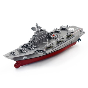 3319 Remote Control Boat Aircraft Carrier RC Submarine with Conductivity Function - Light Grey