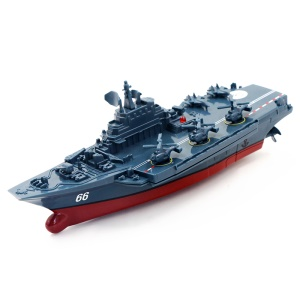 3319 2.4GHz Mini Radio Control Electric Aircraft Carrier Built-in Battery - Dark Grey