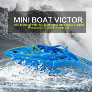 3392 27MHz/40MHz 4CH Radio Control RC Racing Boat Yacht Toy for Kids - Blue