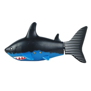Mini 27/40Mhz 3CH Electric RC Fish Boat Shark Swim in Water Remote Control Toy for Kids - Black + Blue