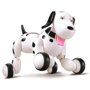 RC Space Walking Dog 2.4G Wireless Remote Control Smart Dog Electronic Pet Children's Toy - Black