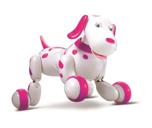 Smart 2.4G Wireless Remote Control Dog RC Space Walking Dog Electronic Pet Children's Toy - Pink