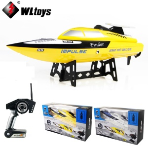 WLTOYS WL912 2.4G Remote Control High Speed RC Racing Boat - Yellow / US Plug