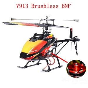 WLTOYS V913 Brushless Motor 4CH Single Blade RC Helicopter