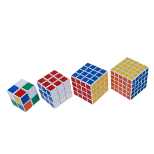 4Pcs/Lot SHENSHOU 2x2x2 / 3x3x3 / 4x4x4 / 5x5x5 Professional Magic Cube Anti-pop Structure