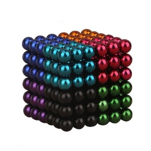 216 Pcs Colorful Magnetic Ball Building Block Creative Magnet Toy Puzzle 5mm Office Decoration Balls (8 Colors)