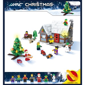 JJRC 1002 936Pcs Christmas Santa's Village Building Block Toy Set Educational Brick Toy