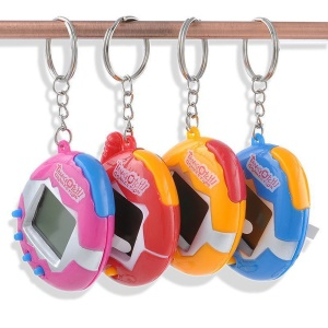 Digital Pet Cyber E-pet Toy Handheld Game Machine with Retro Nostalgic Keychain