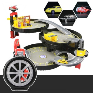 Portable 3-level Wheel Track Car Parking Assembly Car Track Toy Set