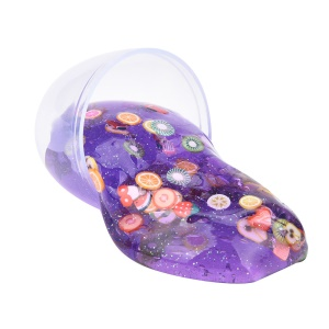 Crystal Egg Slime Toy Stress Relief Toy Sludge Toy for Chiledren - Purple / Fruits Pattern