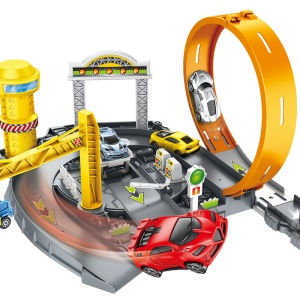 P871-A Track Racer Car Rail 360 Degree Rotary Loop DIY Toy 3D Car Racing Track Toy for Kids