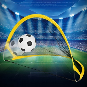 75cm Portable Deux Pliant Net De Formation De Football Coups De Pied + Football + Pompe Gonflable