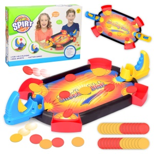 Double Play Coin Shooting Desktop Game Parent-child Interactive Game