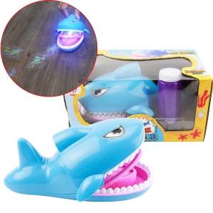 Shark Soap Bubbles Toy for Birthday Party Gift - Blue