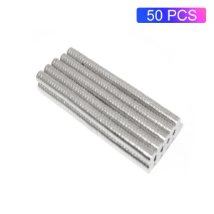 50Pcs/Set Round Powerful NdFeB Magnets for Industrial Equipment and DIY Toys, Size: 3x1mm