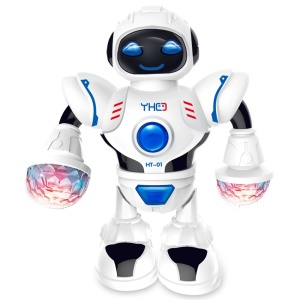 Space Dancing Humanoid Robot Toy Electronic Children Kid Robot Toy with LED Light