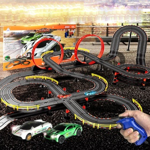 A36-34 1:43 Scale Double Competition Simulation DIY Super Sport Car Track Racing Toy Set - EU Plug