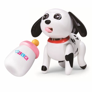 Baby Pet Sucking Milk Stick Out Drink Milk Bottle Feeding Toy - Spotty Dog