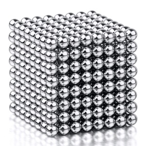 512PCS Silver Magnetic Ball Building Block Creative Magnet Toy Puzzle 5mm Office Decoration Balls