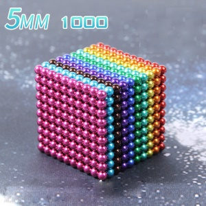 1000PCS 5mm Creative Toy Magnetic Ball Building Block Magnet Puzzle Balls - Multi-color