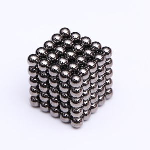 125PCS 5mm Magnetic Ball Sculpture Magnets Building Block Creative Educational Toy Puzzle Balls - Black