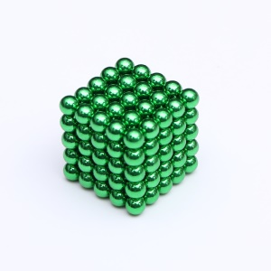 125PCS 5mm Magnetic Ball Sculpture Magnets Building Block Magnetic Toy Puzzle Balls - Green