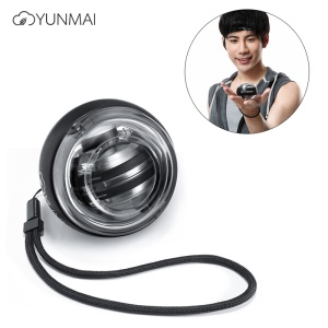 XIAOMI Yunmai Gyroball Wrist Trainer Ball Exercise Tool [Power Supply Itself] with Safety Strap - Black
