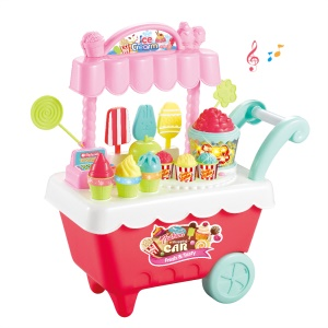 24Pcs/Set Simulation Candy Ice Cream Car Play Set Educational Toys for Kids - Red