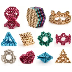 6-color 5mm DIY Magnetic Balls Magnet Buckyballs Neocube Educational Toy