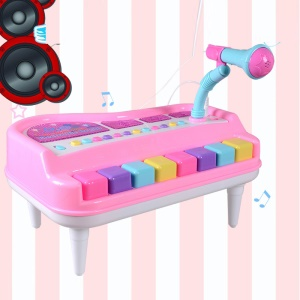 Children Multi-function Electronic Organ With Mic Kids LED Light Piano Toy (CE Certification) - Pink