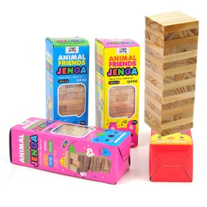 Educational Jenga Game DIY Toy for Kids - 48 Pieces