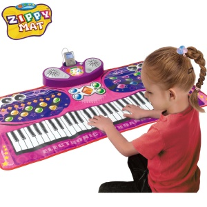 61 Keys Music Piano Electronic Keyboard Playmat with Microphone and Stand