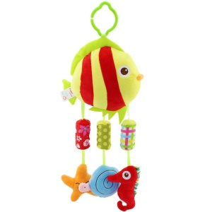Wind Chimes Cartoon Animals Stroller Hanging Bell Toy for Babies - Striped Fish