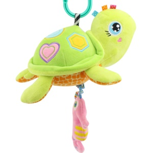 Cartoon Sea Animal Stroller Bed Hanging Toy with Music for Babies - Tortoise