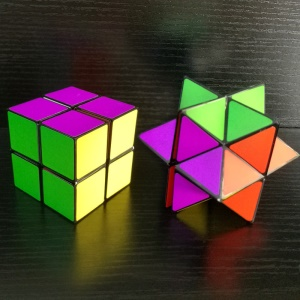 Colorful Infinity Cube Plastic Magic Cube Pressure Reduction Toy Mini Fidget Cube for Kids and Adults