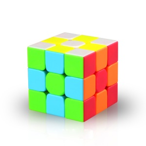 QIYI Warrior W 3x3x3 Sticker-less Magic Cube Puzzle Toy for Kids