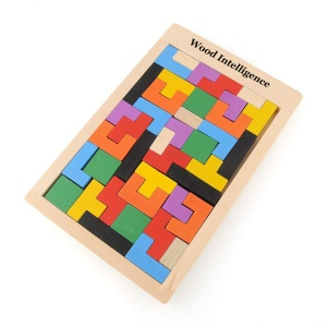 Early Education Tetris Wood Toys Brick for Kids Intelligence Development Patch Puzzle Board