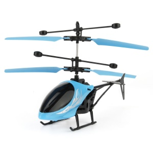 UTOGHTER Kid's Flying Toy 2CH Hand Induction Infrared Helicopter - Blue