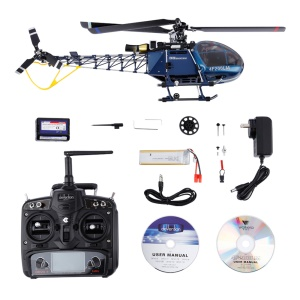 4F200LM 2.4G 6CH RC Flybarless Helicopter with Devo 7 Transmitter for Walkera